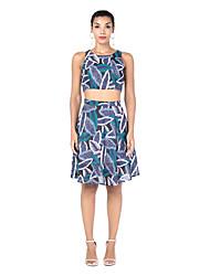 cheap -Women's Basic Set - Floral, Print Skirt