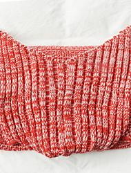 Недорогие -Коралловый флис, Крашенный в пряже В клетку Акриловые волокна одеяла