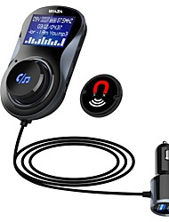 cheap -WAZA BT01 Car Bluetooth 4.1 FM Transmitter Quick Charge 3.0