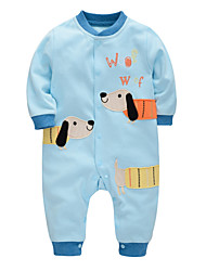 cheap -Baby Boys' Solid Colored Long Sleeve Romper