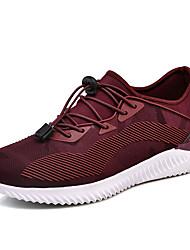 baratos -Homens sapatos Tule / Couro Ecológico Outono Conforto Tênis Corrida / Caminhada Preto / Cinzento / Vinho