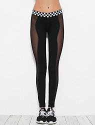 cheap -Women's Daily Sporty Legging - Color Block Mid Waist