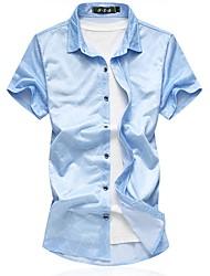 cheap -Men's Basic Shirt - Plaid