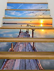 Недорогие -Декоративные наклейки на стены - 3D наклейки Пейзаж / Море Гостиная / Кабинет / Офис