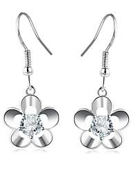 cheap -Women's Flower Drop Earrings / With Gift Box - Fashion Silver Drops Earrings For Wedding / Daily