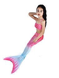 cheap -The Little Mermaid Swimwear / Bikini / Costume Women's Halloween / Carnival Festival / Holiday Halloween Costumes Pink Vintage Mermaid and Trumpet Gown Slip / Bikini