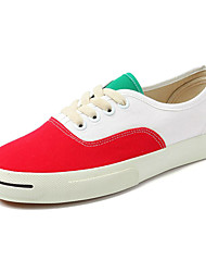 cheap -Men's Light Soles Canvas Summer Sneakers Color Block Pink / White / Black / White