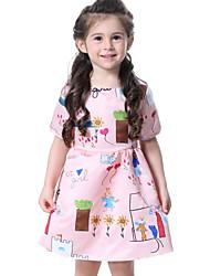 preiswerte -Kinder Baby Mädchen Druck Kurzarm Kleid