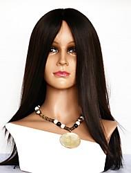 Недорогие -Натуральные волосы Полностью ленточные Парик Бразильские волосы Прямой Парик 130% Плотность волос с детскими волосами Лучшее качество удобный Нейтральный Жен. Средние