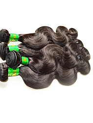 cheap -Indian Hair / Body Wave Body Wave Virgin Human Hair / Remy Human Hair Human Hair Extensions 4 Bundles Human Hair Weaves Soft / New Arrival / Hot Sale Natural Black Human Hair Extensions Women's