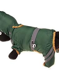 preiswerte -Hunde / Katzen / Haustiere Mäntel / Regenmantel / Waterproof Hundekleidung Solide / Einfache Gelb / Rot / Dunkelgrün Acrylfasern Kostüm