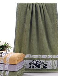 Недорогие -Свежий стиль Полотенца для мытья, Мультипликация Высшее качество Полиэстер / Хлопок 100%бамбуковое волокно Жаккардовое плетение 1pcs