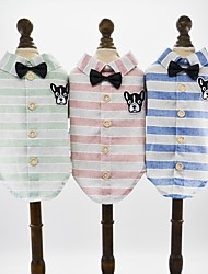 abordables -Perros Gatos Mascotas Camisetas Ropa para Perro Estampado Caricatura Animal Verde Azul Rosa Algodón / Poliéster Disfraz Para mascotas
