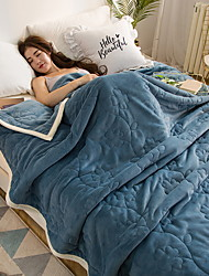 cheap -Coral fleece, Embossed Floral Polyester Blankets