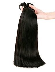 Недорогие -Бразильские волосы / Связки Прямой Необработанные / Натуральные волосы Накладки из натуральных волос Ткет человеческих волос Удлинитель /