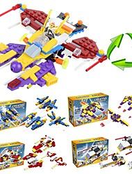 voordelige -Bouwblokken 205pcs Vechter School / Stress en angst Relief / Decompressie Speelgoed Raket & Ruimteschip Geschenk