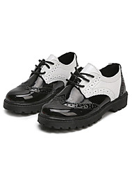cheap -Girls' Shoes Faux Leather Spring & Summer Comfort Oxfords Walking Shoes for Kids White / Black