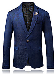 cheap -Men's Party Daily Business Casual Slim Blazer-Floral Peaked Lapel / Please choose one size larger according to your normal size.