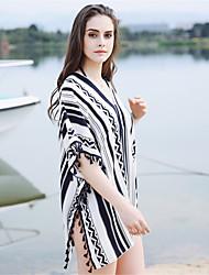 cheap -Women's Party / Holiday Rectangle - Striped / Print Black & White, Split