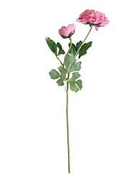 cheap -Artificial Flowers 1 Branch Simple Style / Modern Lotus / Eternal Flower Tabletop Flower