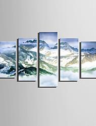 Недорогие -С картинкой Отпечатки на холсте - Пейзаж Modern