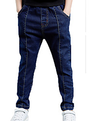 abordables -Enfants Garçon Couleur Pleine Jeans
