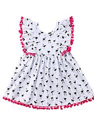 economico -Bambino (1-4 anni) Da ragazza Gru Collage Senza maniche Vestito