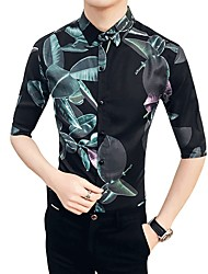 cheap -Men's Business Exaggerated Shirt - Color Block