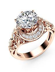 Недорогие -Синтетический алмаз кластер Обручальное кольцо - Медь, Позолоченное розовым золотом Динозавр, Шарообразные Массивный, Дамы, Богемные, Праздник, Богемный Бижутерия Светло-коричневый Назначение