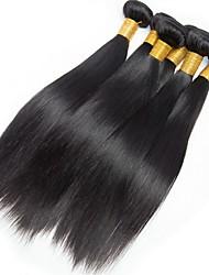 Недорогие -6 Связок Малазийские волосы Прямой Необработанные Человека ткет Волосы / Накладки из натуральных волос Естественный цвет Ткет человеческих волос Творчество / Новый дизайн / Новое поступление