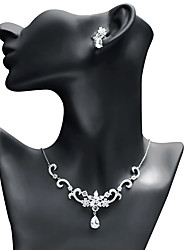 abordables -Femme Zircon Ensemble de bijoux - Goutte, Etoile Mode, Elégant Comprendre Boucles d'oreille goutte / Pendentif de collier Blanc Pour Mariage / Soirée