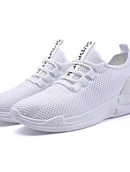 abordables -Homme Tulle Eté Confort Chaussures d'Athlétisme Course à Pied Blanc / Noir