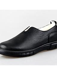 povoljno -Muškarci Cipele Koža / Mekana koža Zima Čizmice / Udobne cipele Čizme Crn