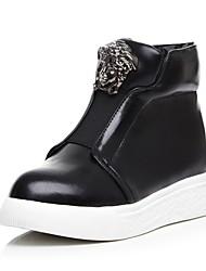 povoljno -Žene Cipele PU Jesen zima Obrada krzna / Čizmice Čizme Hodanje Ravna potpetica Okrugli Toe Čizme gležnjače / do gležnja Šljokice za