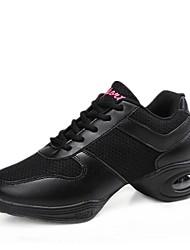 economico -Per donna Sneakers da danza moderna Maglia traspirante Sneaker Basso Personalizzabile Scarpe da ballo Bianco / Nero / Nero / Rosso