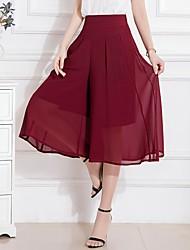 abordables -Mujer Básico Columpio Faldas Floral