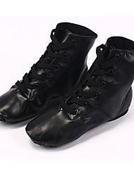 cheap -Women's Jazz Shoes PU Flat Flat Heel Dance Shoes Black / Performance / Practice