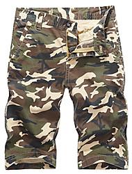 baratos -Homens Militar / Moda de Rua Shorts / Calças Esportivas Calças - camuflagem