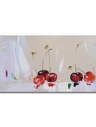 Недорогие -styledecor® современная ручная роспись абстрактной вишневой масляной живописи для настенного искусства на обернутом холсте