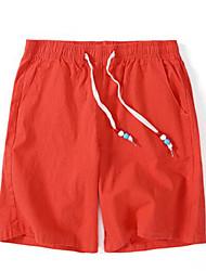 abordables -Hombre Deportivo Corte Ancho Shorts Pantalones - Un Color