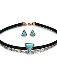cheap -Women's Jewelry Set 1 Necklace / Earrings - Fashion / Gothic Triangle Rainbow Jewelry Set For Ceremony / Carnival