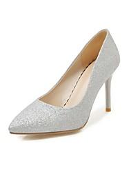 baratos -Mulheres Sapatos Paetês Primavera Conforto Saltos Salto Agulha Dedo Apontado Lantejoulas Prata / Azul / Rosa claro / Festas & Noite
