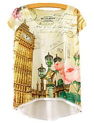 cheap -Women's T-shirt - Floral Print