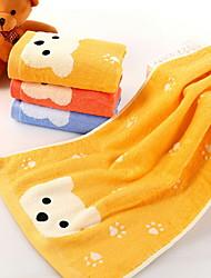 Недорогие -Свежий стиль Полотенца для мытья, Животное Высшее качество Полиэстер / хлопок Чистый хлопок Жаккардовое плетение 1pcs