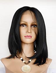 baratos -Cabelo Humano Frente de Malha Peruca Cabelo Brasileiro Liso Peruca com o cabelo do bebê Simples Vida Confortável Natural Mulheres Perucas de Cabelo Natural