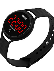 cheap -Men's / Women's Digital Watch Chinese Water Resistant / Water Proof / LCD / 3D Cartoon Silicone Band Cool / Elegant Black / White / Blue