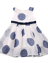 abordables -Enfants Fille Points Polka Sans Manches Robe