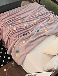 cheap -Coral fleece, Yarn Dyed Solid Colored Polyester Blankets
