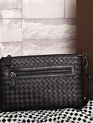 baratos -Mulheres Bolsas couro legítimo Bolsa de Ombro Botões para Ao ar livre Cinzento Escuro / Azul Escuro / Amêndoa