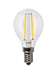 abordables -1pc 2W 120-180lm E14 Ampoules à Filament LED G45 2 Perles LED COB Intensité Réglable Blanc Chaud 220-240V